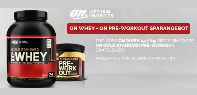 Optimum Nutrition + Booster solange Vorrat reicht